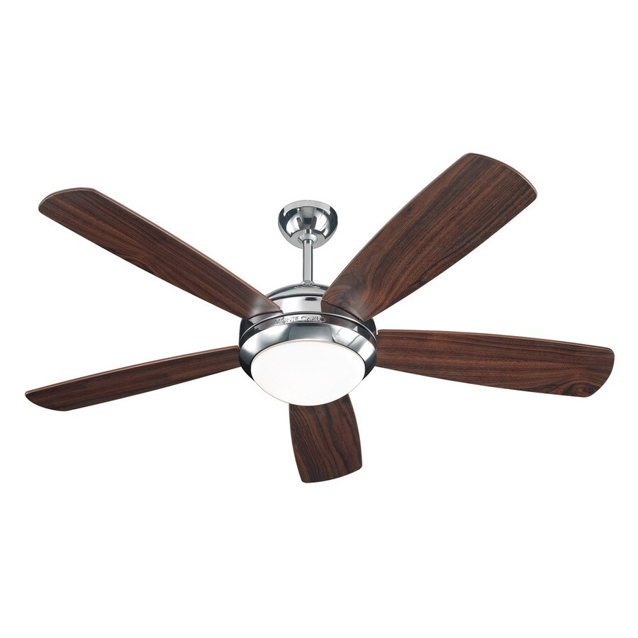 Monte Carlo Fan Company Discus 52-in Polished Nickel Downrod or Close Mount Indoor Ceiling Fan (5-Blade)