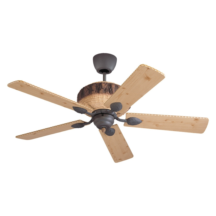Monte Carlo Fan Company 52-in Weathered Iron Indoor Downrod Mount Ceiling Fan