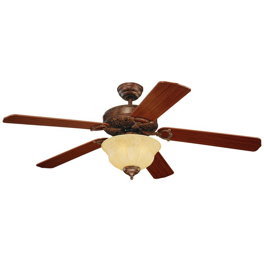 Monte Carlo Fan Company 52-in Tuscan Bronze Downrod or Close Mount Indoor Ceiling Fan Included (5-Blade)