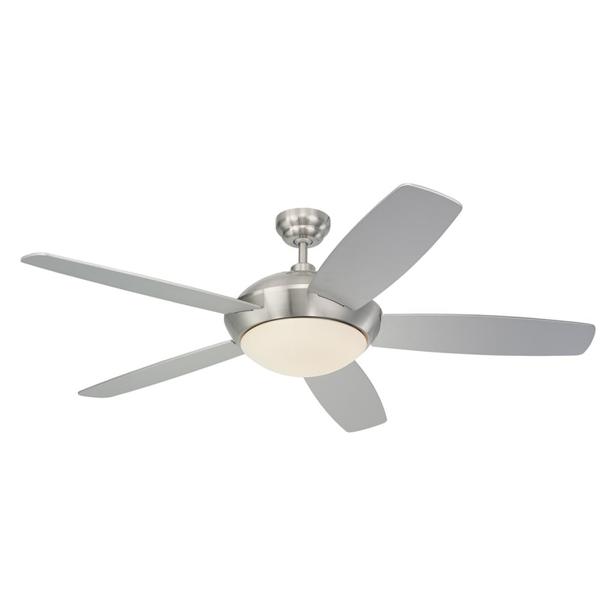 Shop Monte Carlo Fan Company Sleek 52 In Brushed Steel