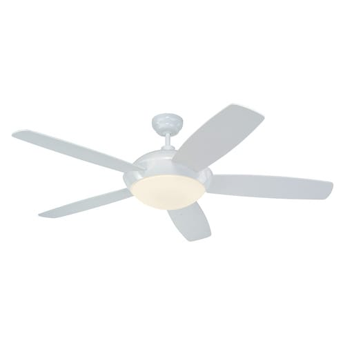 Monte Carlo Fan Company Sleek 52 In White Indoor Downrod
