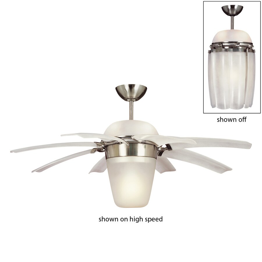 Shop Monte Carlo Fan Company 44 In Brushed Steel Indoor