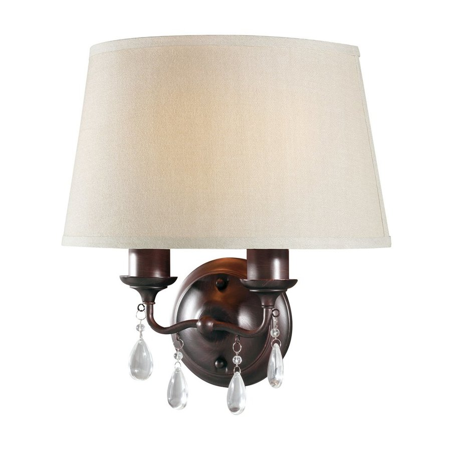 Sea Gull Lighting West Town 14.75-in W 1-Light Burnt Sienna Arm Wall Sconce