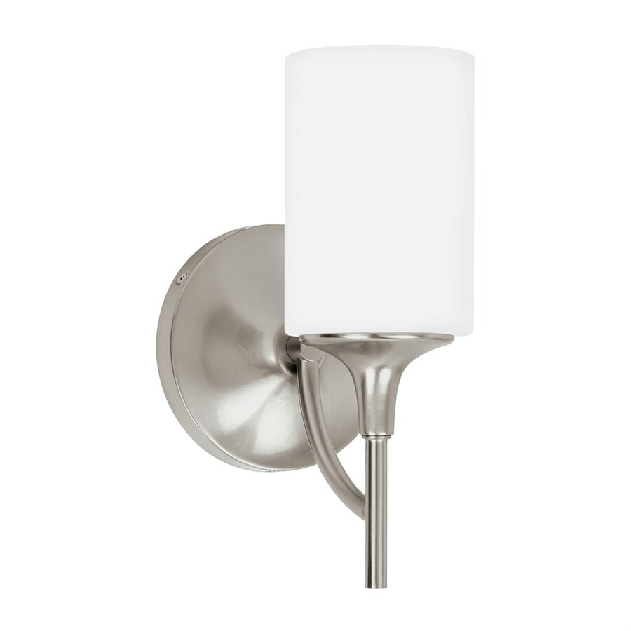 Sea Gull Lighting Stirling 5.5-in W 1-Light Brushed nickel Arm Wall Sconce