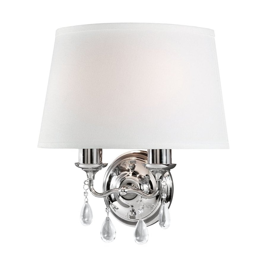 Sea Gull Lighting West Town 14.75-in W 1-Light Chrome Arm Wall Sconce