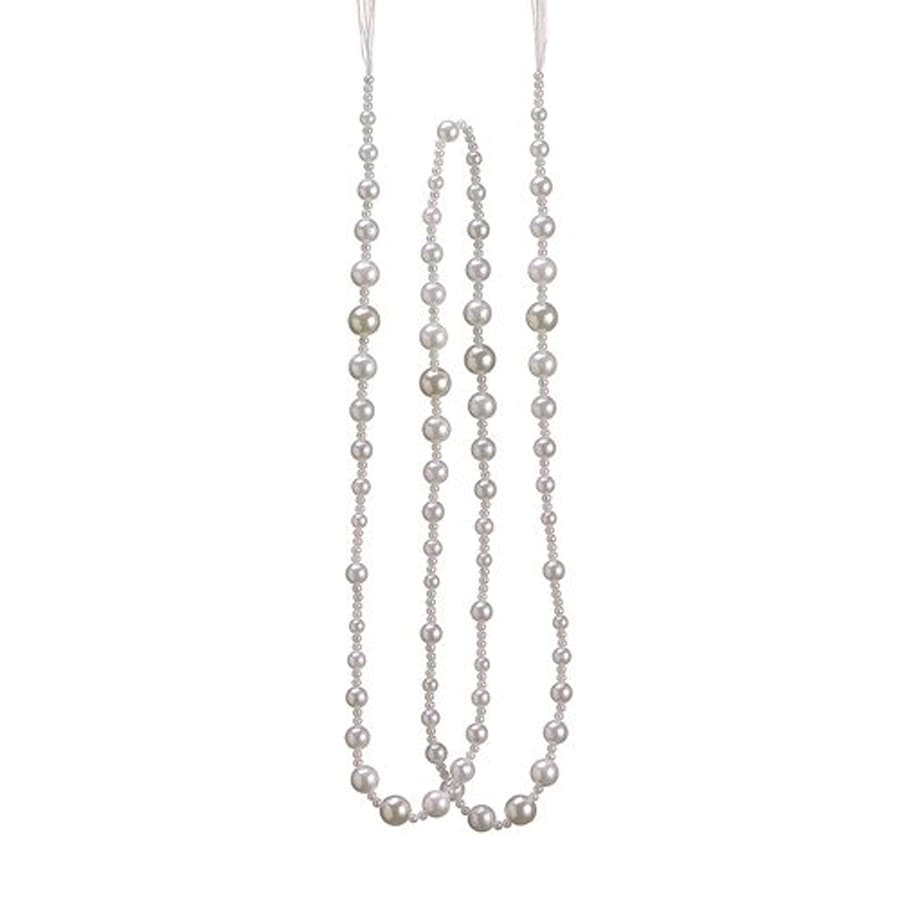 Northlight Tell A Story Unlit 6-ft L Pearl Beaded Garland