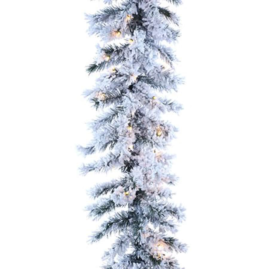 Northlight Allstate Pre-Lit 9-ft L Chestnut Garland with White Incandescent Lights