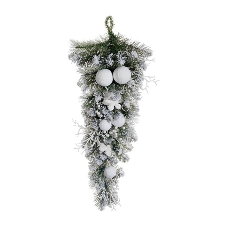 Northlight Allstate 2.8-ft L Snowy Flocked Pine Garland