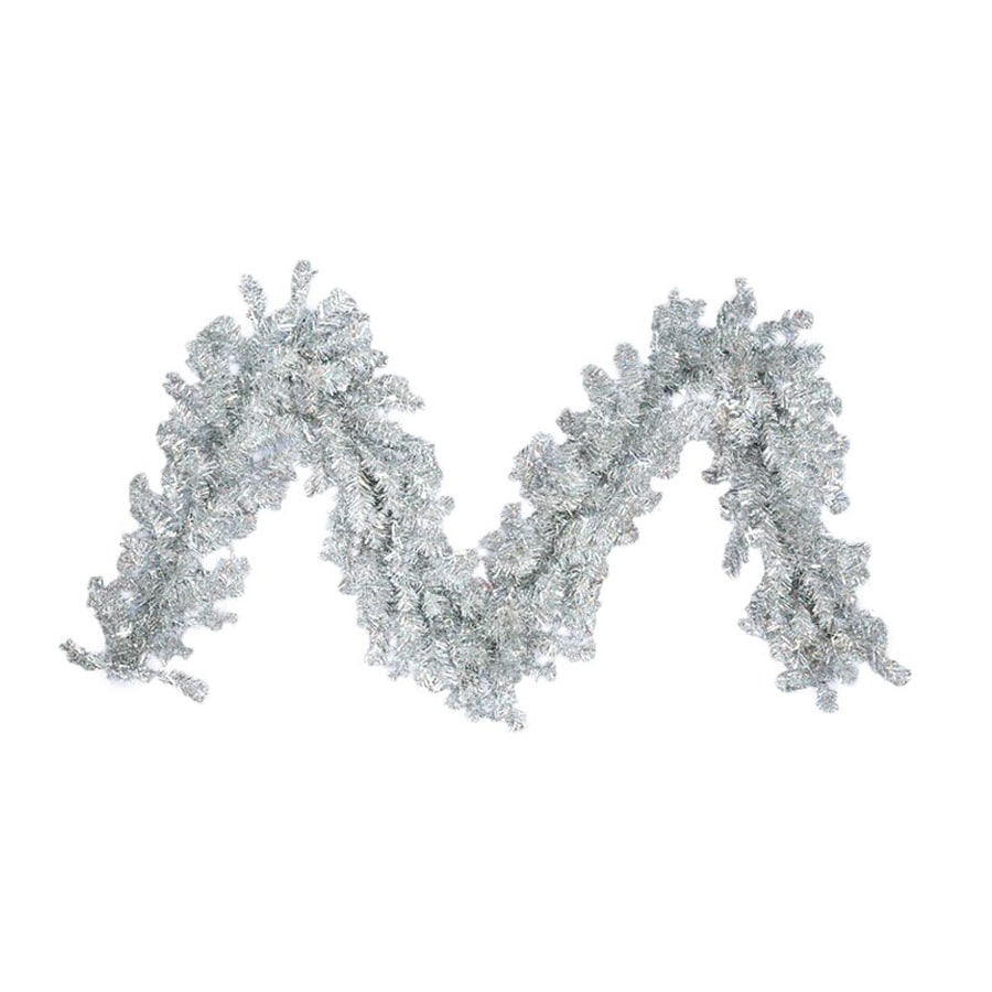 Northlight Allstate 9-ft L Sparkling Silver Tinsel Garland
