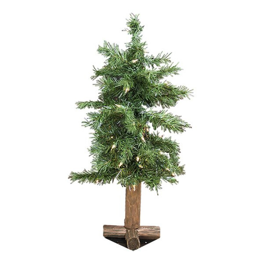 Northlight Allstate Floral And Craft 2-ft 66-Count Pre-lit Slim Artificial Christmas Tree 35 White Clear Incandescent Lights