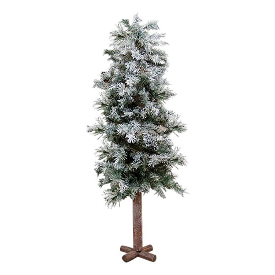 Northlight Allstate Floral And Craft 4-ft 250-Count Slim Flocked Artificial Christmas Tree
