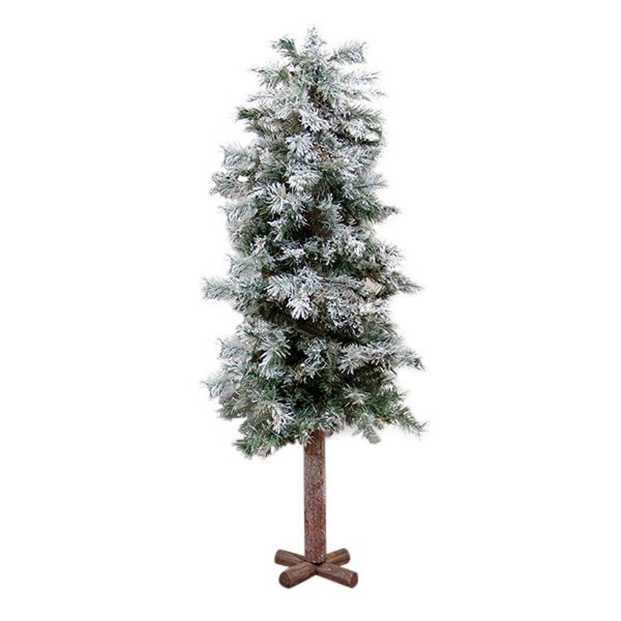 Northlight Allstate Floral and Craft 5-ft Unlit Alpine Slim Flocked Artificial Christmas Tree