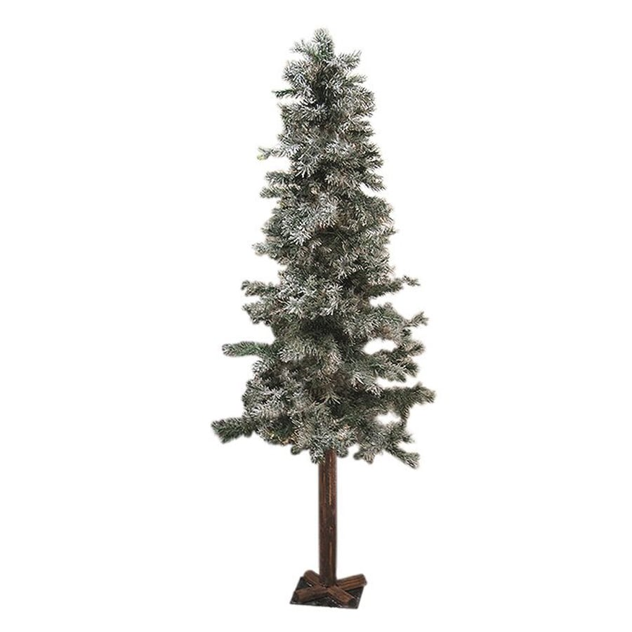 Northlight Allstate Floral And Craft 7-ft 687-Count Alpine Slim Flocked Artificial Christmas Tree