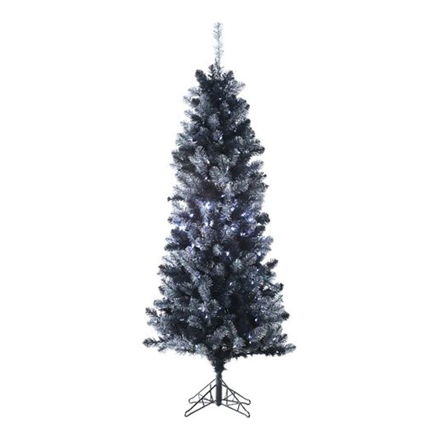 Northlight Allstate 6-ft Pre-Lit Tinsel Slim Artificial Christmas Tree with Clear White LED Lights