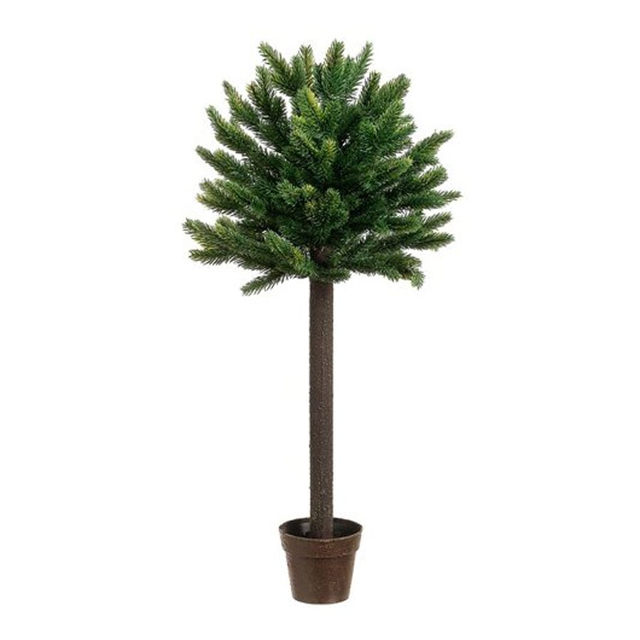 Northlight Allstate Floral and Craft 2.25-ft Single Ball Topiary Slim Artificial Christmas Tree