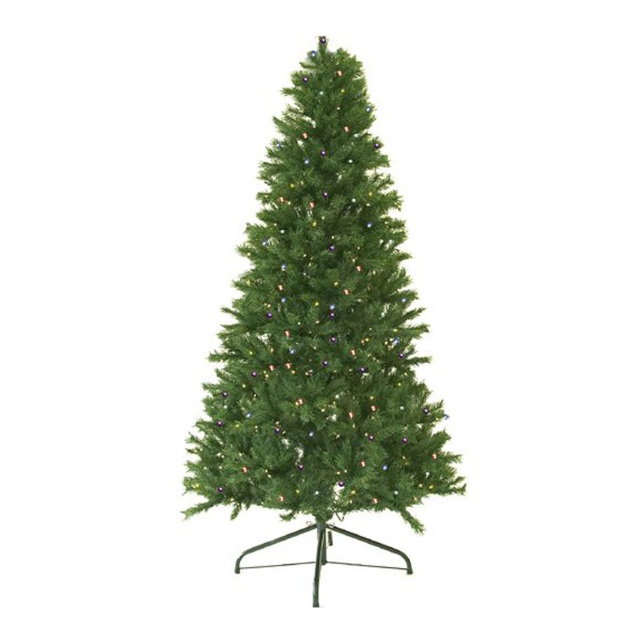 northlight 8 ft pre lit canadian pine artificial christmas tree with 600 constant multicolor
