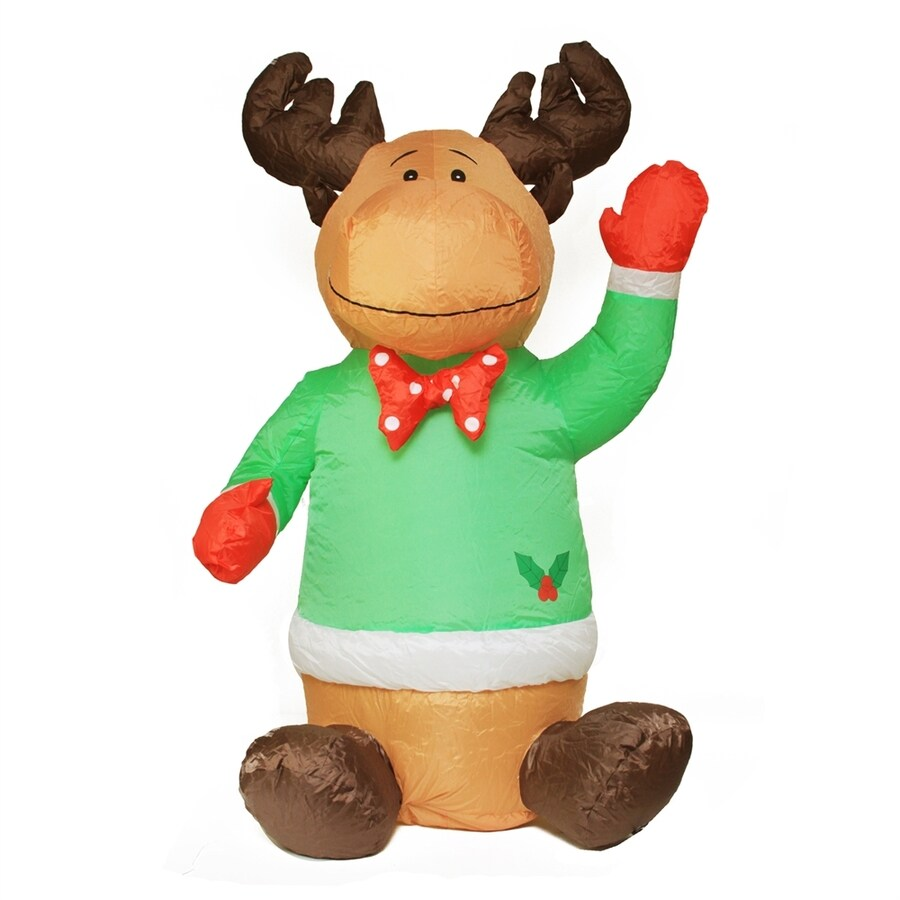 Northlight 4-ft Lighted Sitting Reindeer Christmas Inflatable