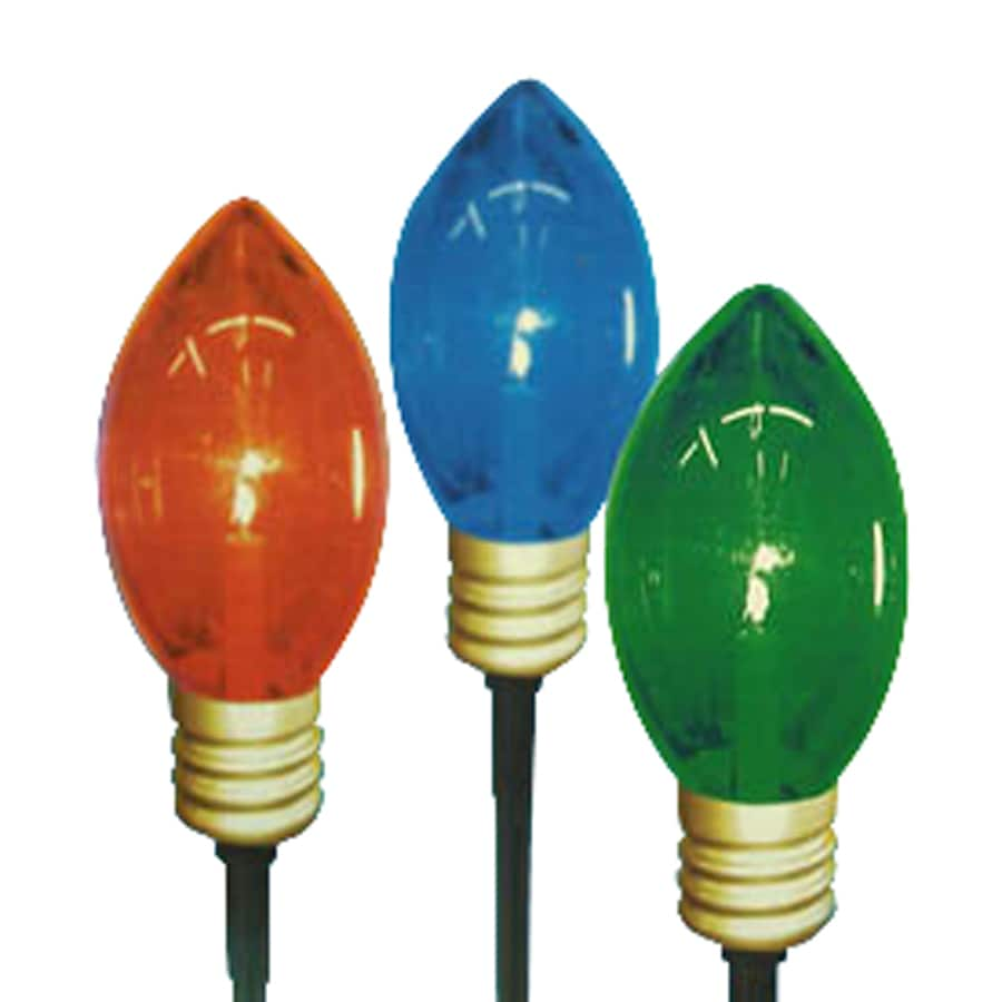 Northlight Sienna 3-Marker Multicolor Incandescent Electrical Outlet Powered Christmas Bulbs Pathway Markers