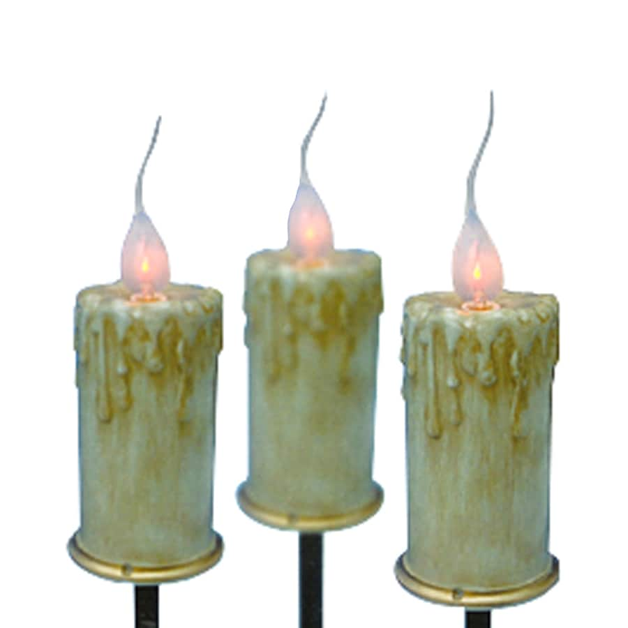 Northlight Sienna 3-Marker Orange Incandescent Plug-In Candles Christmas Pathway Markers