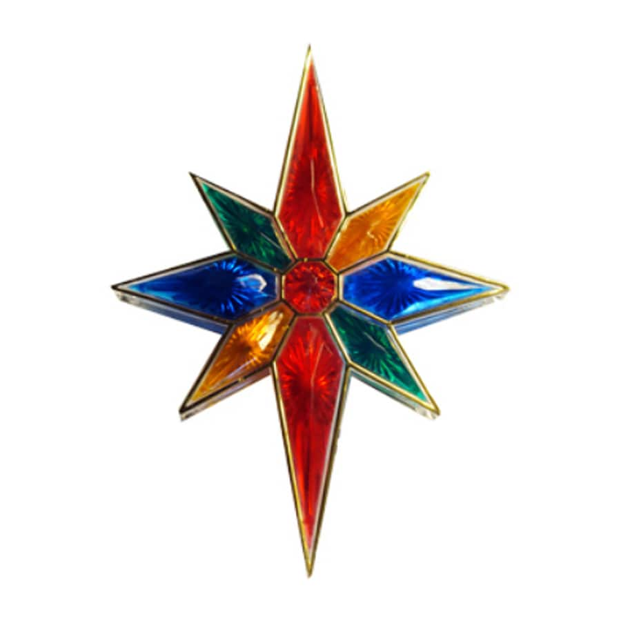 Northlight 11-in Star Multicolor Christmas Tree Topper at Lowes.com