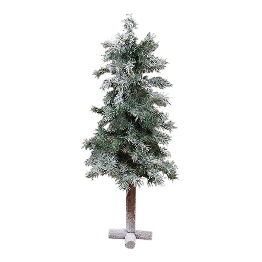 Northlight Allstate Floral and Craft 3-ft Alpine Flocked Slim Artificial Christmas Tree