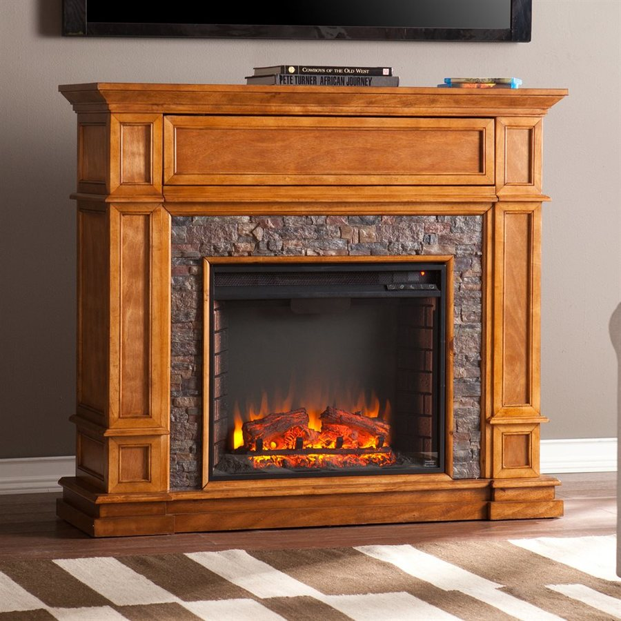 Shop boston loft furnishings 45 5 in w 5000 btu sienna mdf Loft fireplace
