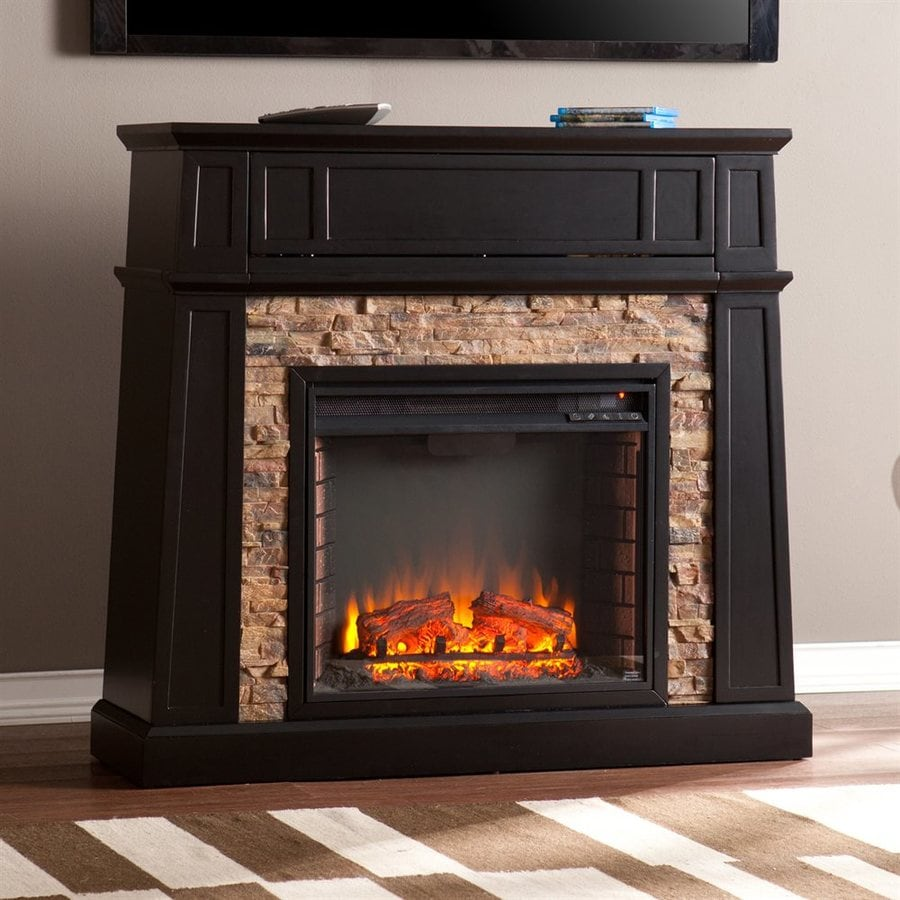 Boston Loft Furnishings 44.25-in W 5000-BTU Black MDF Flat Wall LED Electric - Shop Electric Fireplaces At Lowes.com