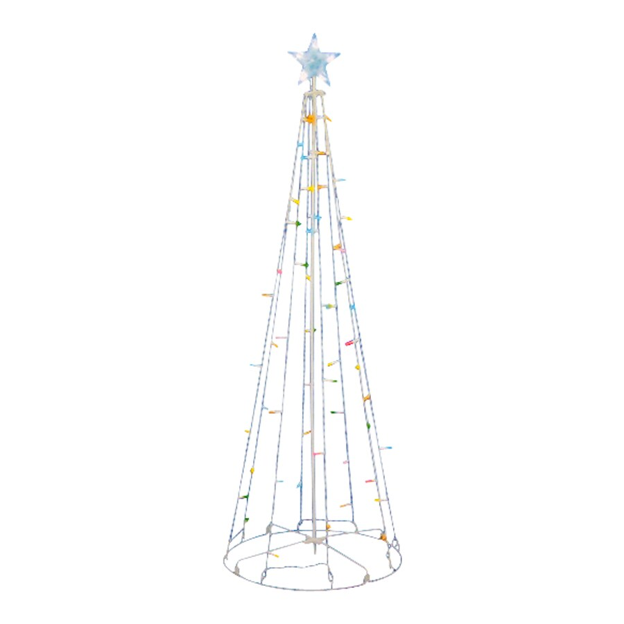 Northlight Sienna Pre-Lit Tree Light Display with Multi-Function Multicolor LED Lights