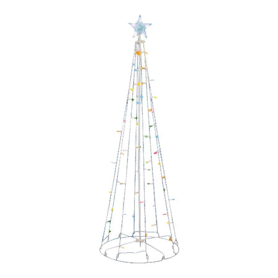Northlight Sienna Lighted Freestanding Tree Outdoor Christmas Decoration with Multicolor LED Lights