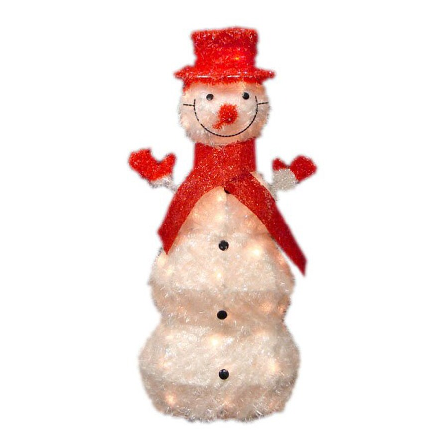 Northlight Alger Pre-Lit Snowman Sculpture with Clear White Incandescent Lights