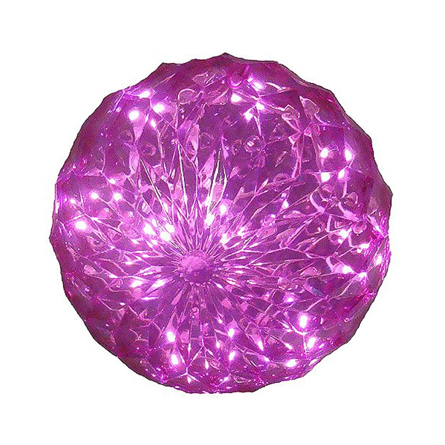 Northlight Penn Pre-Lit Ball Sculpture with Constant Pink LED Lights