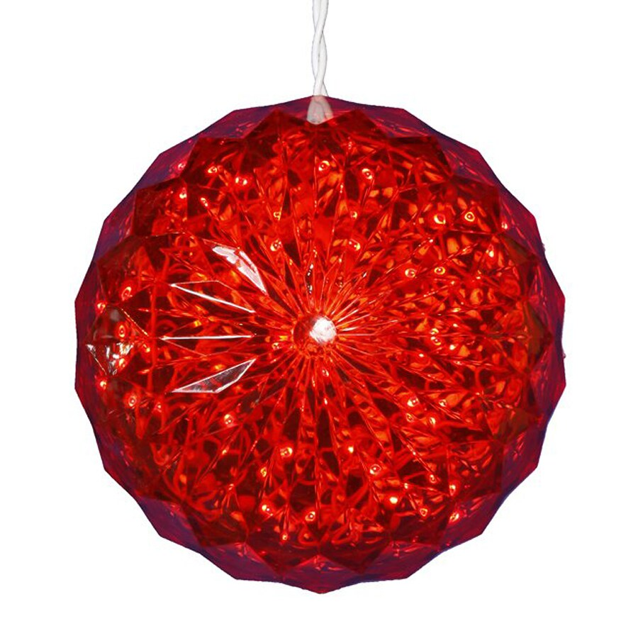 Shop northlight penn pre lit ball sculpture with constant for Outside christmas balls