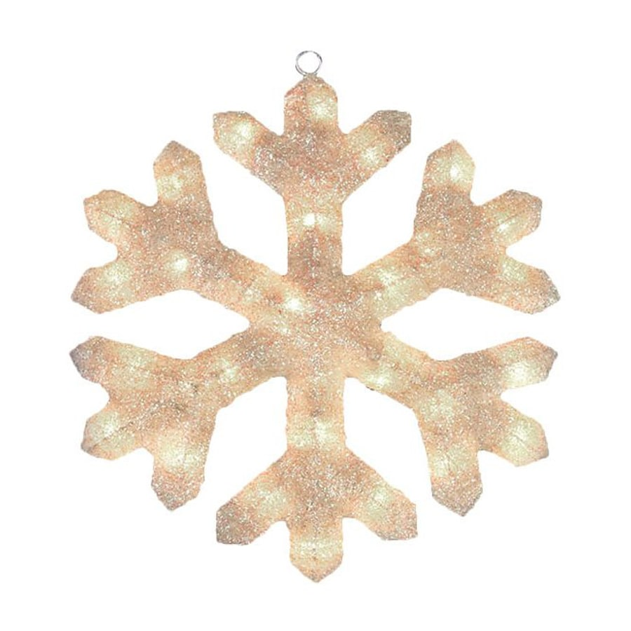 Northlight Alger Lighted Snowflake Hanging Outdoor Christmas Decoration With White Incandescent Lights