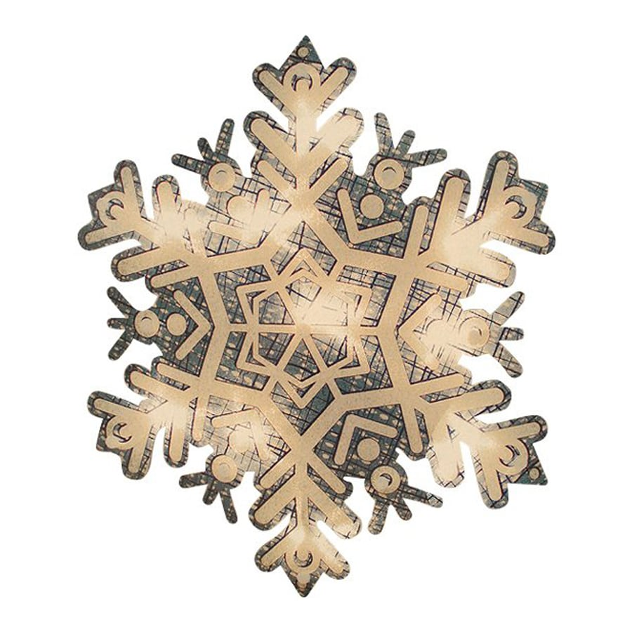 Northlight Impact Pre-Lit Snowflake with Clear White Incandescent Lights