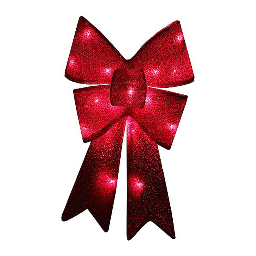 Northlight Penn Lighted Ribbon Hanging Outdoor Christmas Decoration with Red Incandescent Lights