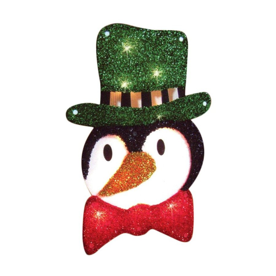 Northlight Impact Lighted Penguin Hanging Outdoor Christmas Decoration with White Incandescent Lights