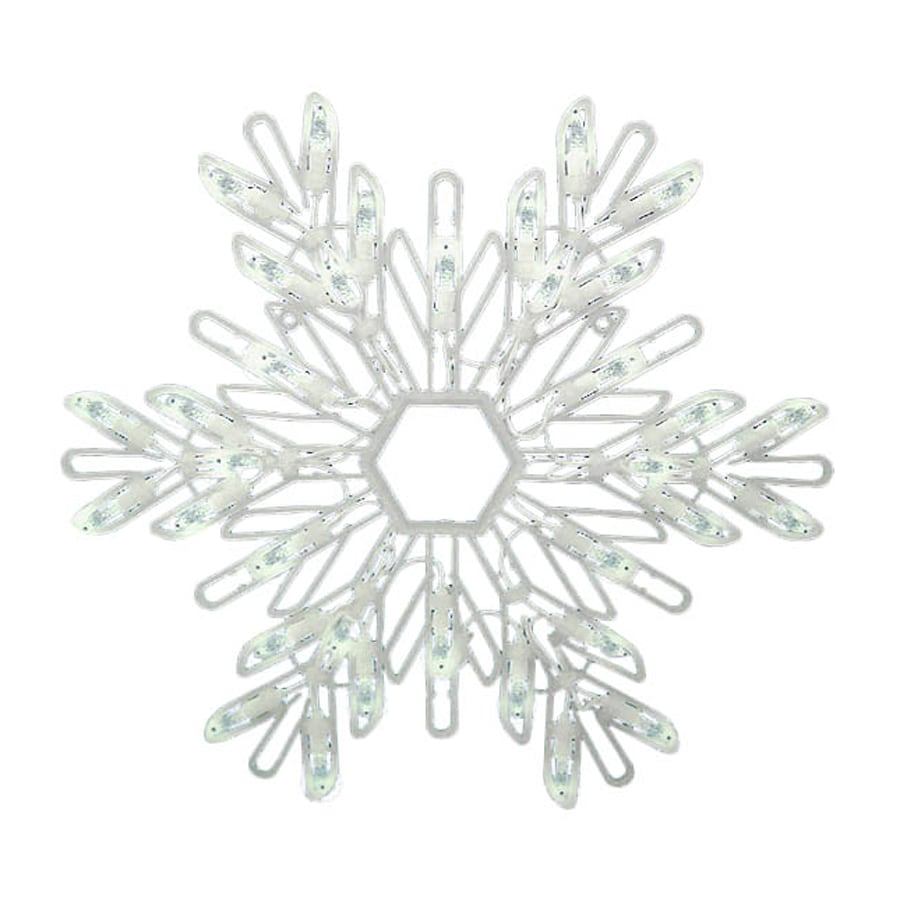 Northlight Sienna Lighted Snowflake Hanging Outdoor Christmas Decoration with White LED Lights