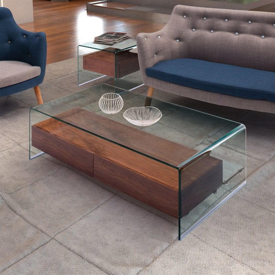 Zuo Modern Shaman Walnut Rectangular Coffee Table