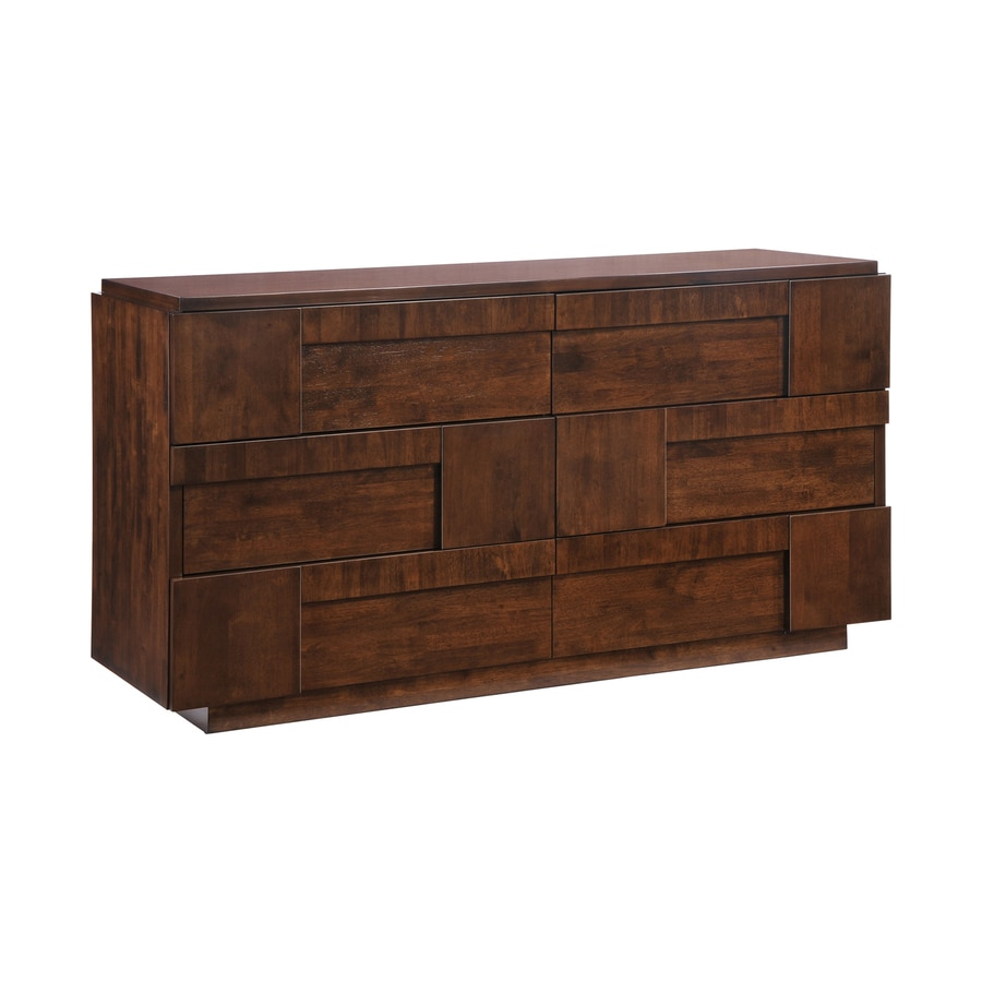 Zuo Modern San Diego Dark Walnut 6-Drawer Dresser