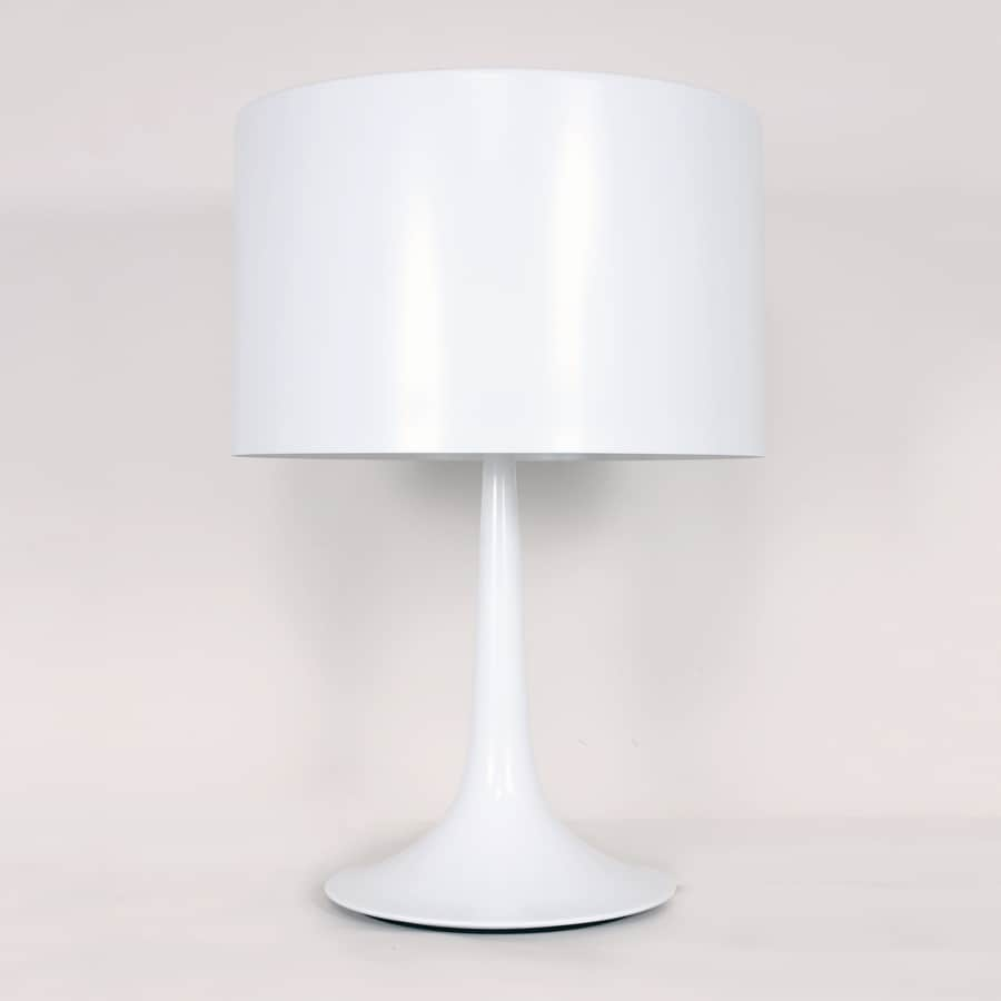 Control Brand Tulip 22.63-in White Indoor Table Lamp with Metal Shade