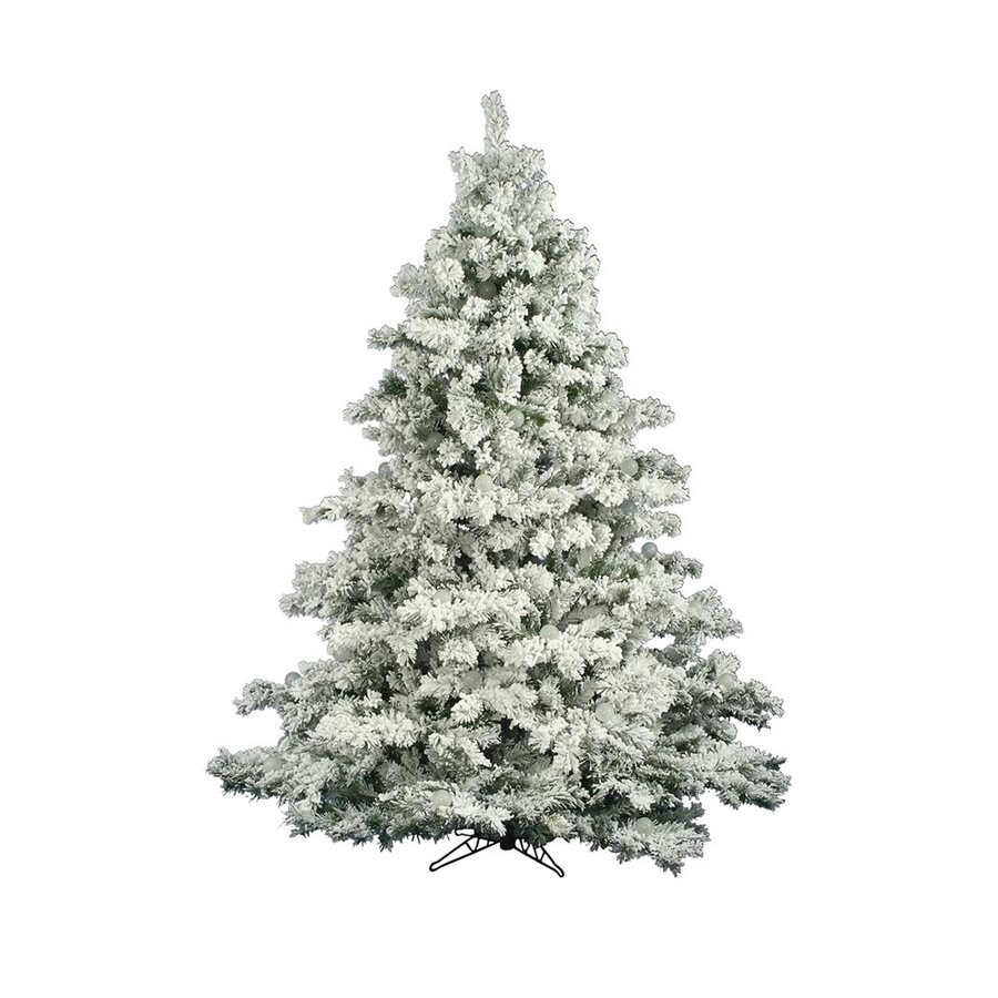 Vickerman 7.5-ft Alaskan Pine Flocked Artificial Christmas Tree