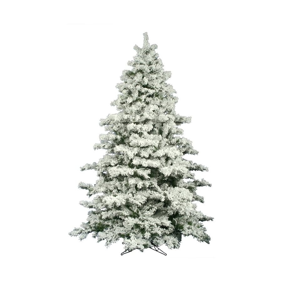 Vickerman 9-ft Alaskan Pine Flocked Artificial Christmas Tree