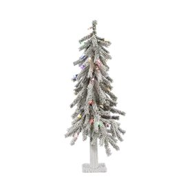 7bfd432be5e Vickerman 2-ft Pre-lit Alpine Slim Flocked Artificial Christmas Tree with  50 Constant