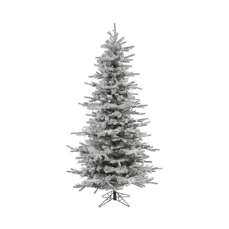 Vickerman 7.5-ft Slim Flocked Artificial Christmas Tree