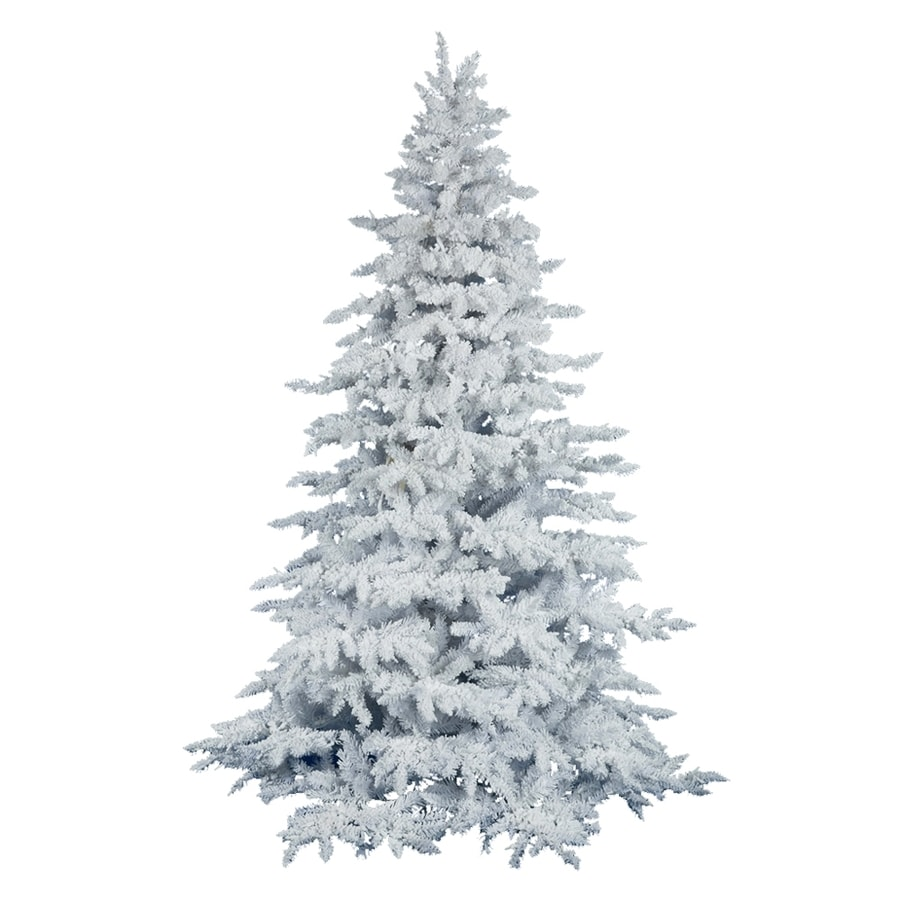 White 4 Foot Christmas Tree: Vickerman 4.5-ft White Spruce Flocked Artificial Christmas