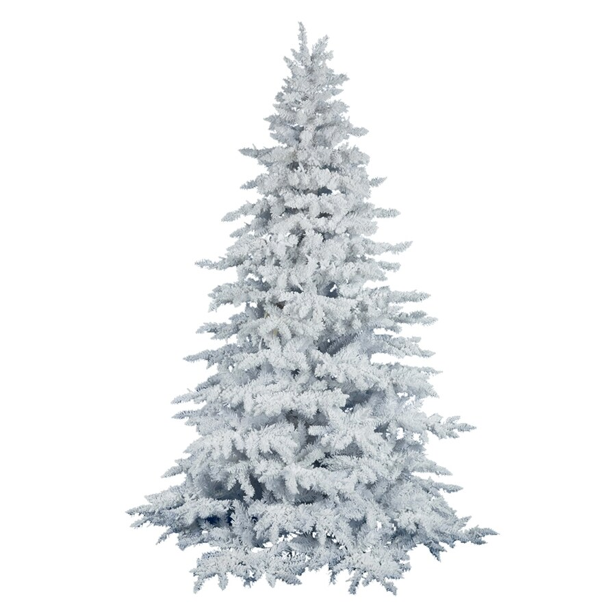 Vickerman 6-ft 6-in 1,206-Tip Unlit White Spruce Flocked Artificial Christmas Tree