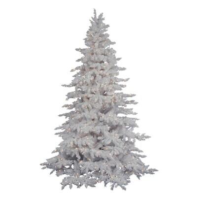 Vickerman Christmas Trees.Vickerman 12 Ft Pre Lit White Spruce Flocked Artificial