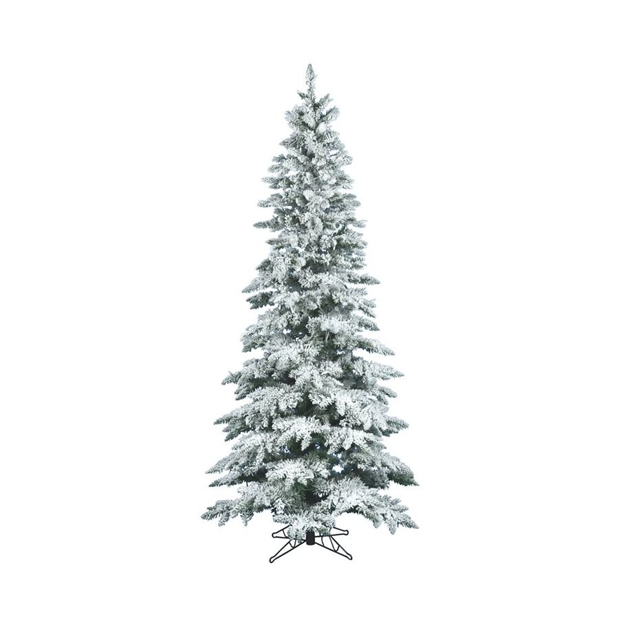 Vickerman 7.5-ft Utica Fir Flocked Artificial Christmas Tree