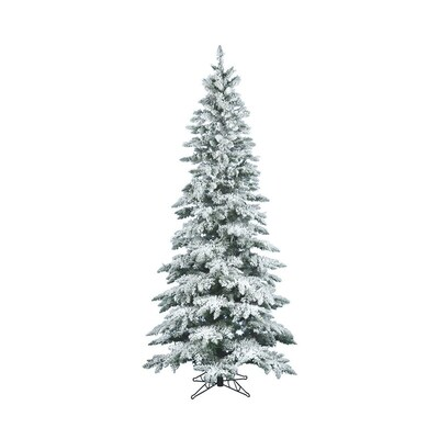 reputable site 03dc3 16ee6 Vickerman 12-ft Utica Fir Slim Flocked Artificial Christmas ...