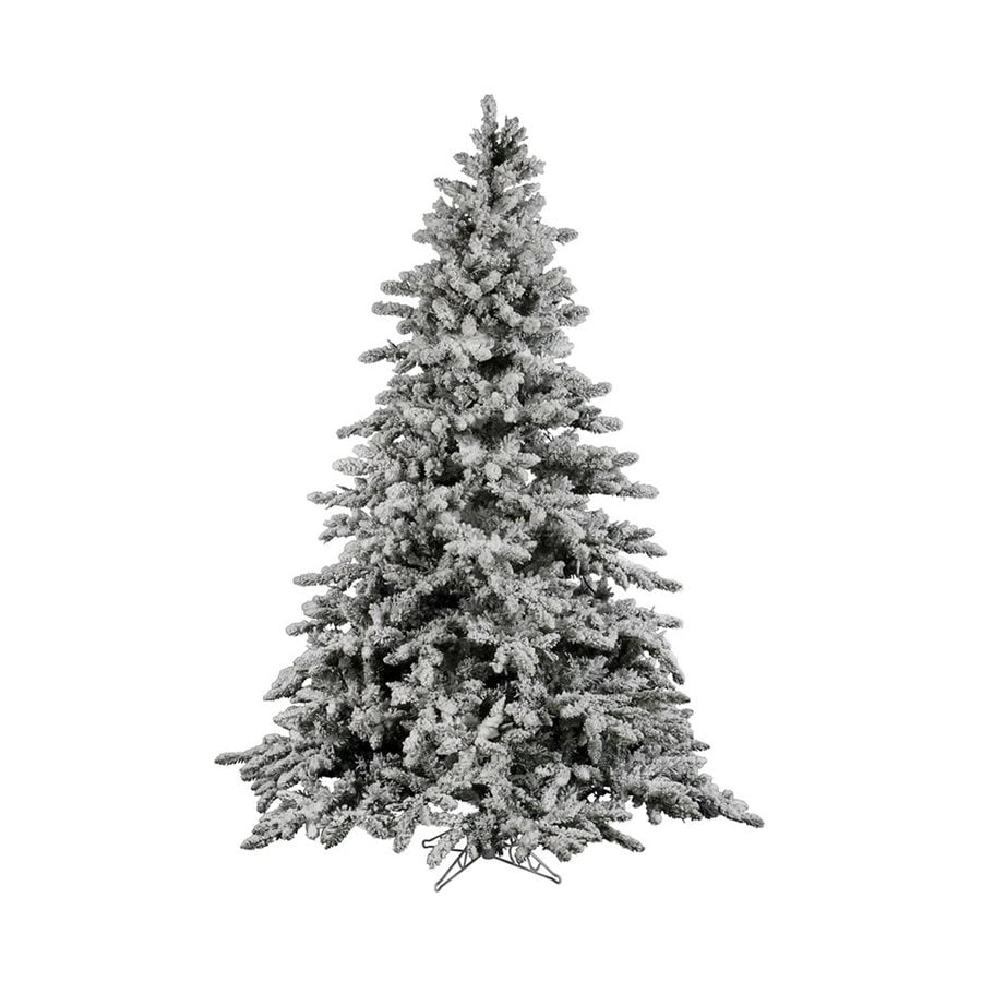 Vickerman 6.5-ft Utica Fir Flocked White Artificial Christmas Tree